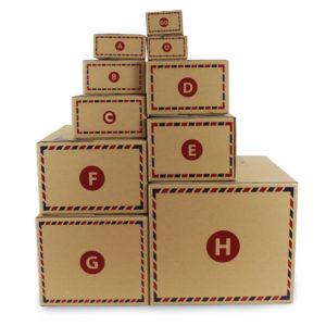 กล่องไปรษณีย์ ฝาชน สีน้ำตาลธรรมชาติ (KT) มีจ่าหน้า FSC
