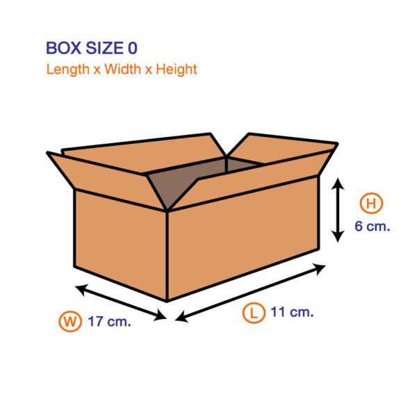 กล่องไปรษณีย์ 0 ขนาด 11 x 17 x 6 ซม. kt