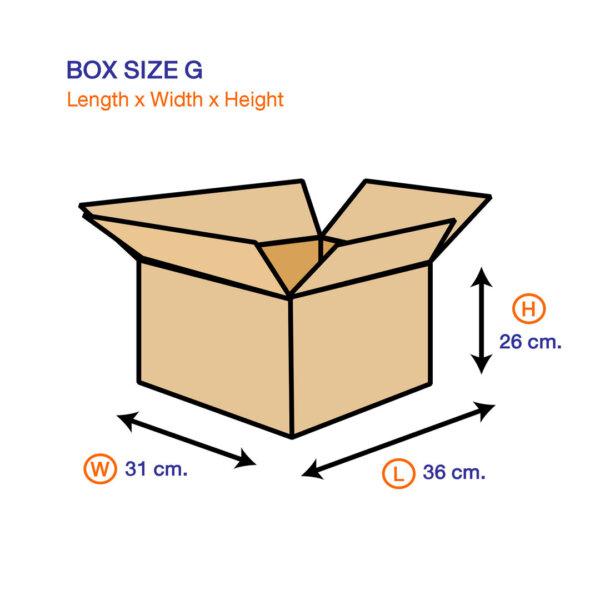 กล่องไปรษณีย์ G ขนาด 36 x 31 x 26 ซม.