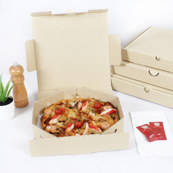 กล่องพิซซ่า ขนาด 9 นิ้ว 24.7 x 24.7 x 5.3 ซม.