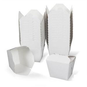 กล่องกระดาษใส่อาหาร To go ทรงสูง 26 ออนซ์