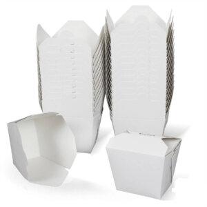 กล่องกระดาษใส่อาหาร To go ทรงสูง 32 ออนซ์