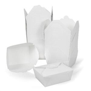 กล่องกระดาษใส่อาหาร To go ทรงกว้าง 45 ออนซ์