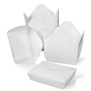 กล่องกระดาษใส่อาหาร To go ทรงกว้าง 49 ออนซ์