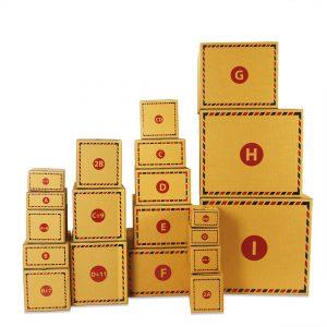 กล่องไปรษณีย์ ฝาชน (น้ำตาลทอง KA)