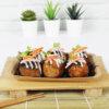 ถาดกระดาษสีน้ำตาลธรรมชาติ-บรรจุภัณฑ์อาหาร