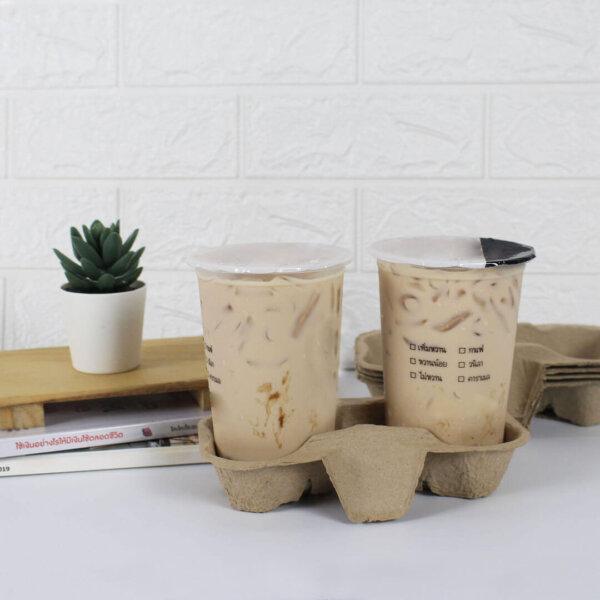 แก้วแคปซูล ชาไข่มุก 16 และ 22 ออนซ์ + ถาดใส่แก้ว 2 หลุม