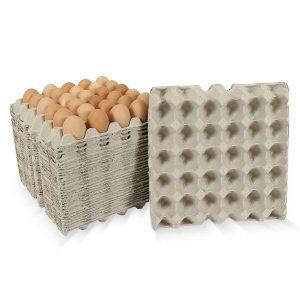 แผงไข่กระดาษ แบบไม่มีรู 29.5x29.5x4.7 cm