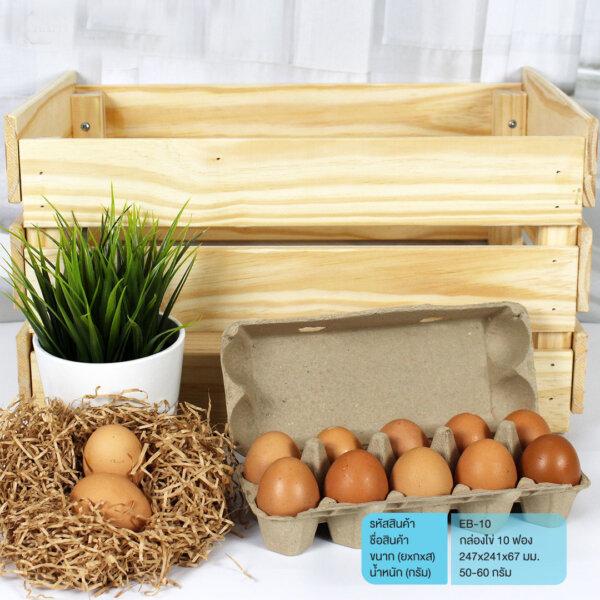 กล่องไข่ แผงไข่ 10 ฟอง