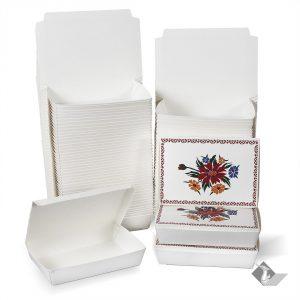 กล่องกระดาษใส่อาหาร ลายดอกไม้ ไซส์ L