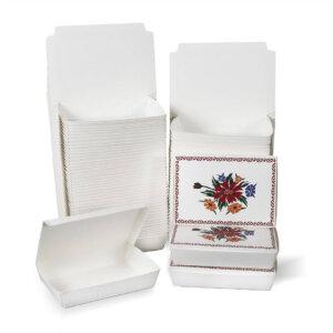กล่องกระดาษใส่อาหาร ลายดอกไม้ ไซส์ M