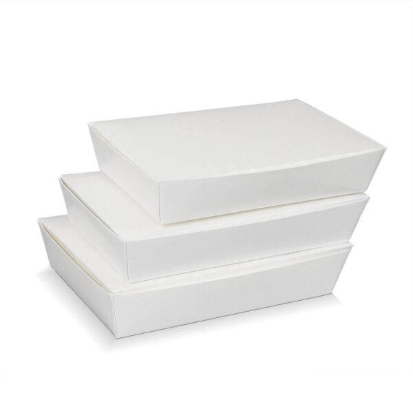 กล่องกระดาษใส่อาหาร สีขาว