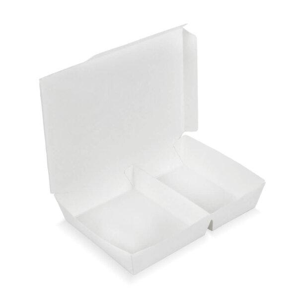 กล่องกระดาษใส่อาหาร 2 ช่อง