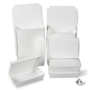 กล่องกระดาษใส่อาหาร สีขาว ไซส์ L