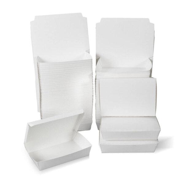 กล่องกระดาษใส่อาหาร สีขาว ไซส์ M
