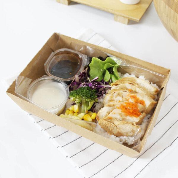 กล่องข้าวไฮบริด บรรจุภัณฑ์อาหาร 30 oz
