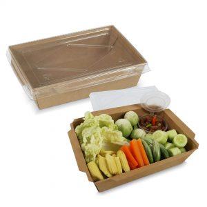 กล่องไฮบริด กล่องฝาปิด 70 oz / 2100 มล.(XXL)