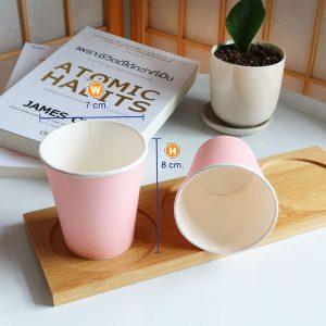 แก้วกระดาษสีชมพูพาสเทล-6-ออนซ์-ปกหงส์ไทย