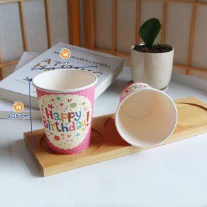 แก้วกระดาษสีชมพู-8-ออนซ์-ลายจุด-Happy-birthday-cover