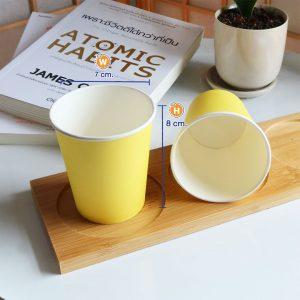 แก้วกระดาษสีเหลืองเลมอน-6-ออนซ์-ปกหงส์ไทย