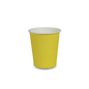 แก้วกระดาษ สีเหลืองเมลอน 8 ออนซ์