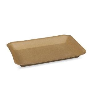 ถาดกระดาษ สีน้ำตาลธรรมชาติ No.1 ขนาด 25x18x3 ซม.