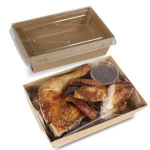 กล่องไฮบริด กล่องฝาปิด 55 oz / 1600 มล.(XL)