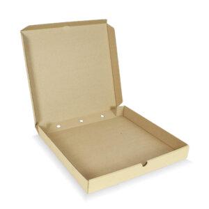 กล่องพิซซ่าสี่เหลี่ยม ขนาด 14 นิ้ว 34.5 x 34.5 x 4 ซม.