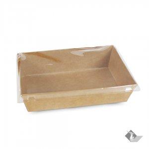 กล่องกระดาษใส่ขนม สีน้ำตาลธรรมชาติ 14.2x12.6x3.4 ซม.