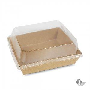 กล่องกระดาษใส่ขนม สีน้ำตาลธรรมชาติ 18.6x13x4.4 ซม.