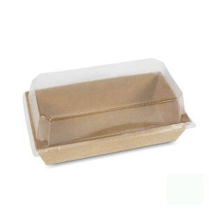 กล่องกระดาษใส่ขนม สีน้ำตาลธรรมชาติ 15.5x8.5x3.4 ซม.