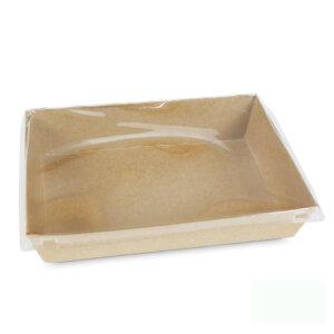 กล่องกระดาษใส่ขนม สีน้ำตาลธรรมชาติ 22.2x16.2x4.4 ซม.