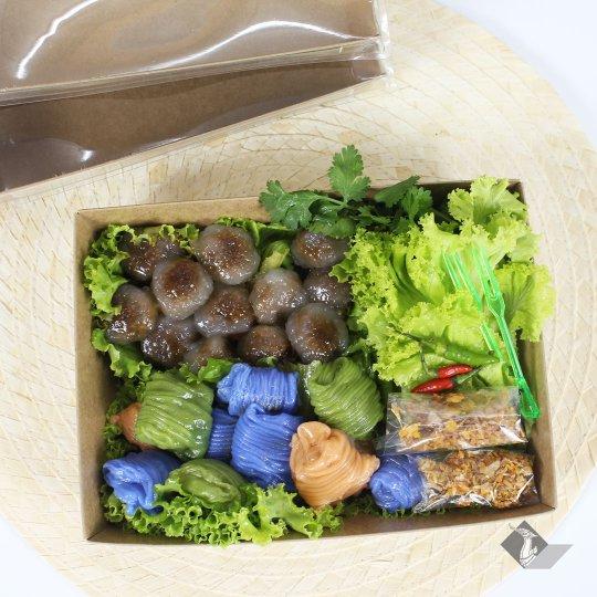 กล่องกระดาษใส่ขนม + ฝาปิด สีน้ำตาลธรรมชาติ