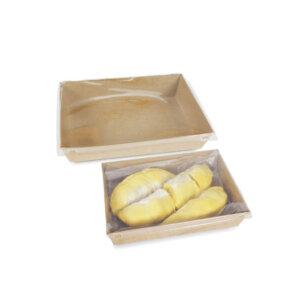 กล่องใส่ขนม กล่องซูชิ กล่องเบเกอรี่ ขนาด 1300 ml + ฝาปิด
