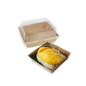 กล่องใส่ขนม กล่องซูชิ กล่องเบเกอรี่ ขนาด 500 ml + ฝาปิดกล่องใส่ขนม กล่องซูชิ กล่องเบเกอรี่ ขนาด 500 ml + ฝาปิด