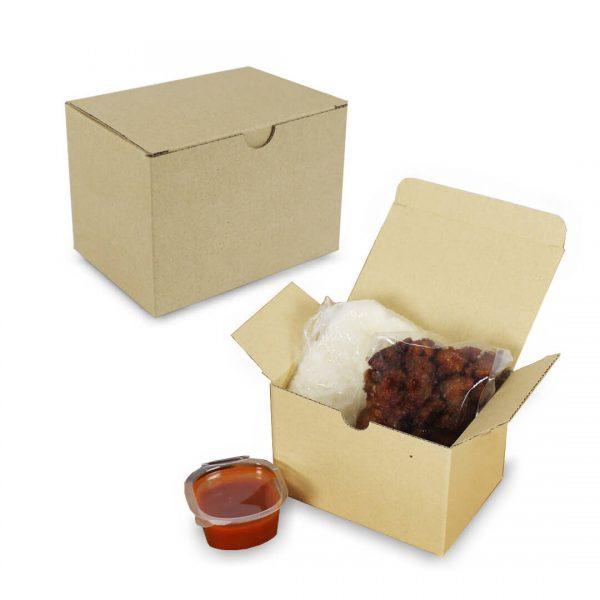กล่องไก่ทอด-กล่องหมูทอด-Size-S-ขนาด-12.7×8.9×9