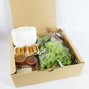 กล่องใส่อาหาร 14 นิ้ว Size L ขนาด 35x35x10.2 ซม.