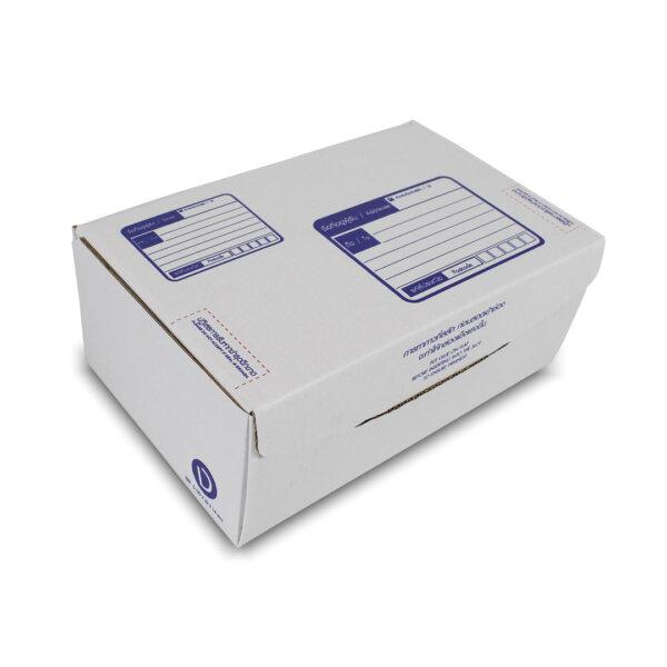 กล่องไปรษณีย์ ไดคัทสีขาว เบอร์ ง. ขนาด 35x22x14 ซม. (ยxกxส)