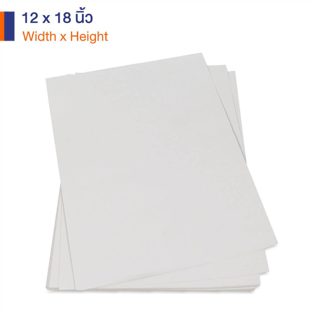 กระดาษคราฟท์สีขาว 170 แกรม ขนาด 12×12 นิ้ว