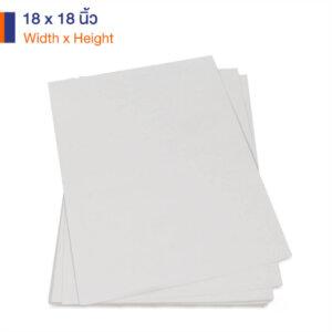 กระดาษคราฟท์สีขาว 170 แกรม ขนาด 18×18 นิ้ว