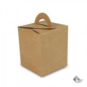 กล่องกระดาษคราฟท์ ทรงสี่เหลี่ยมจัตุรัสหูหิ้ว