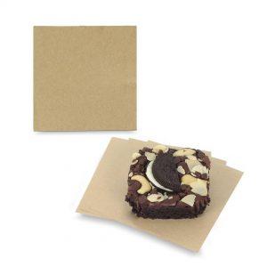 กระดาษรองซาลาเปา กระดาษรองอาหาร สีน้ำตาลธรรมชาติ 4×4 นิ้ว
