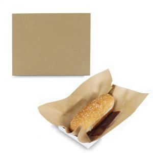 กระดาษห่อHotdog สีน้ำตาลธรรมชาติ 8×10 นิ้ว