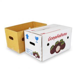 กล่องผลไม้ กล่องมังคุด 10 กิโลกรัม