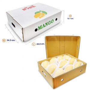 กล่องมะม่วงบรรจุ 5 กิโล (ฝา+ตัว) ขนาดตลาดไท