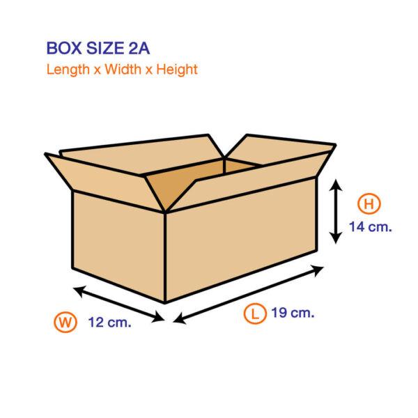 กล่องเบอร์ 2A 19x12x14 cm (ยxกxส)