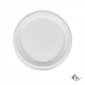 จานกระดาษกลม เยื่อธรรมชาติ 10.2 นิ้ว