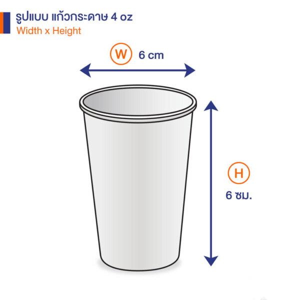 แก้วกระดาษ สีขาว 4 ออนซ์