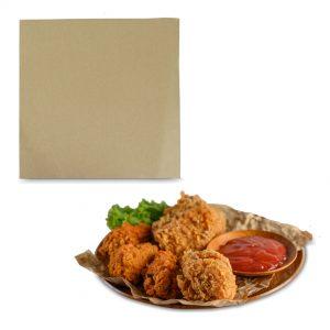 กระดาษรองจาน กระดาษห่อโดนัท สีน้ำตาลธรรมชาติ 10×10 นิ้ว