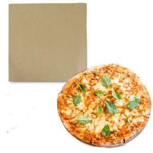 กระดาษรองพิซซ่า สีน้ำตาลธรรมชาติ 12×12 นิ้ว